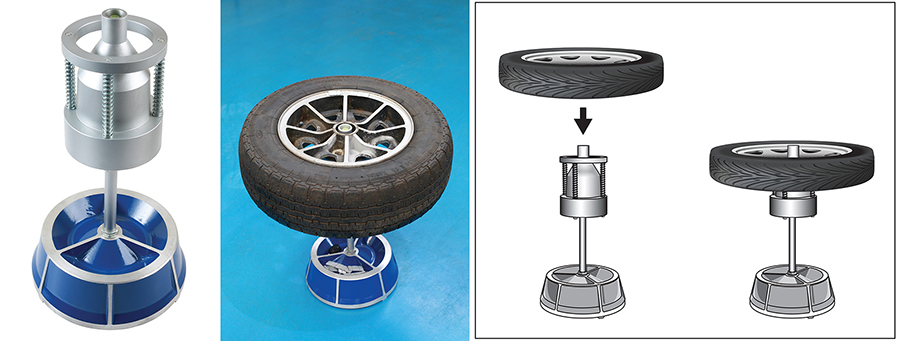 Easy to use static wheel balancer from Gunson Tools