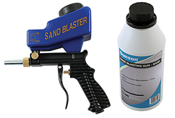 Tough and easy to use gravity-fed sand blast gun