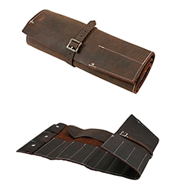 Practical and stylish traditionally designed leather tool roll