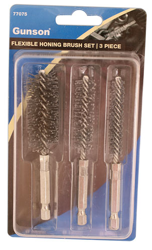 PACKAGING image of Gunson | 77075 | Flexible Honing Brush Set - 3pc
