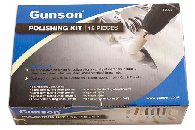 Packaging image of Gunson | 77097 | Polishing Kit - 18pc