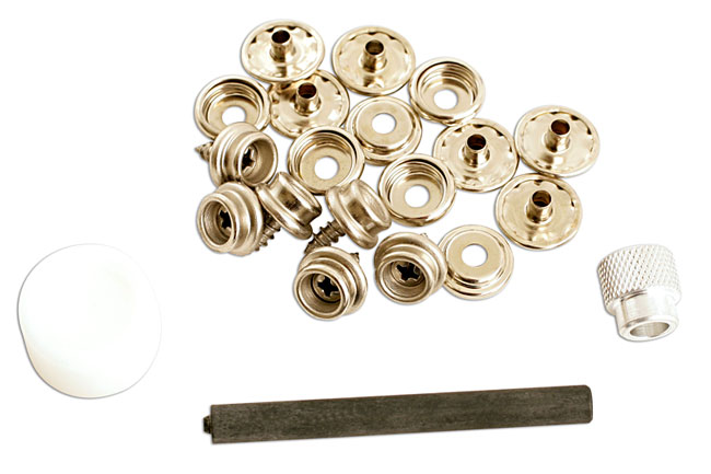 image of Gunson | 77116 | Press Stud Repair Kit - 15pc