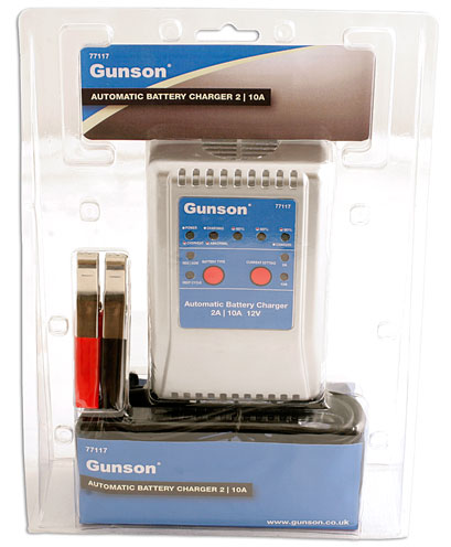Packaging image of Gunson | 77117 | Battery Charger 2A/10A