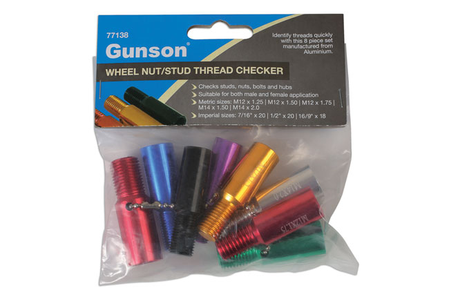 ~/items/xlarge/Packaging image of Gunson | 77138 | Wheel Nut/Stud Thread Checker 8pc