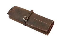 Product Image of Gunson Leather Tool Roll Antique Finish 15 Pockets Part No. 77168